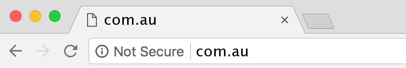 website niet beveiligd